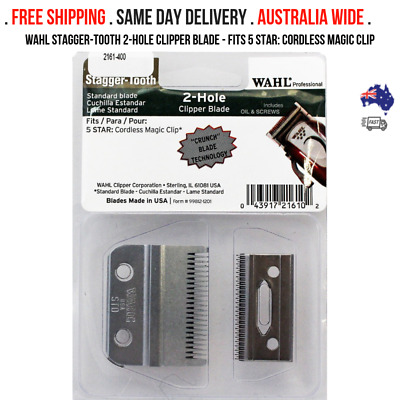 Wahl Stagger-Tooth 2-Hole Clipper Blade - FITS 5 STAR: Cordless Magic Clip