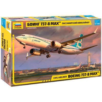 "ZVEZDA 7026 Model Kit ""Civil Airlines BOEING 737-8 MAX"""