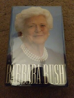 Autographed Barbara Bush First Lady A Memoir 1994 Signed Book George H W