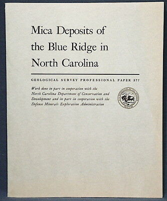 USGS MICA DEPOSITS OF SPRUCE PINE and the BLUE RIDGE, NC, Many Mines, ALL MAPS!