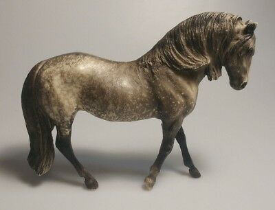 """Vintage Breyer Molding Co. Grey White Spotted Horse - Made In USA 7"""""""