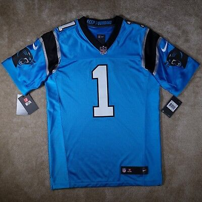 Carolina Panthers Cam Newton Nike Elite Jersey Blue Size 40 Mens Medium M -   325 09243ab43