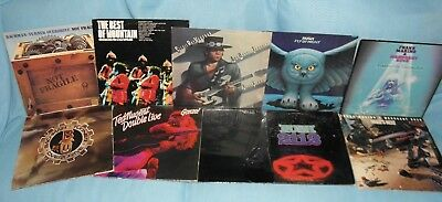 Classic Hard Rock 10 LP Lot Stevie Ray Vaughan Rush AC/DC BTO Ted Nugent  VG