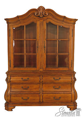 30321EC: ETHAN ALLEN Country French Beveled Glass China Cabinet
