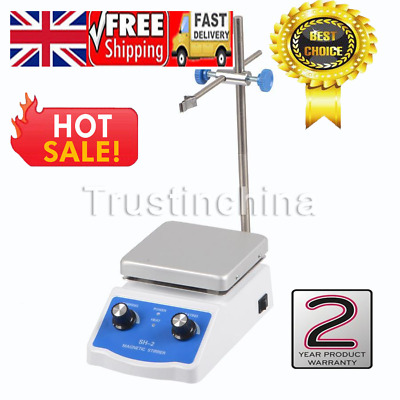 "Hug Flight Magnetic Stirrer Mixer Hotplate 4.72*4.72"" Top Plate with Heating UK"