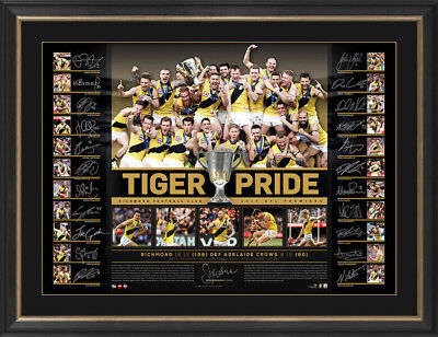 Richmond Tigers 2017 AFL Premiers Team Signed Lithograph Unframed