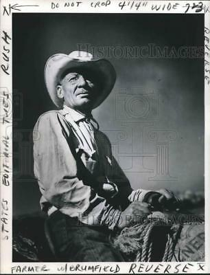 1963 Press Photo This Farmer, over 65, makes up 11 per cent of total farmers