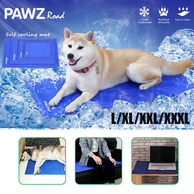 Pet Dog Cat Cool Gel Mat Large Bed Non-Toxic Summer Pad Cushion 2 Size L/XXL