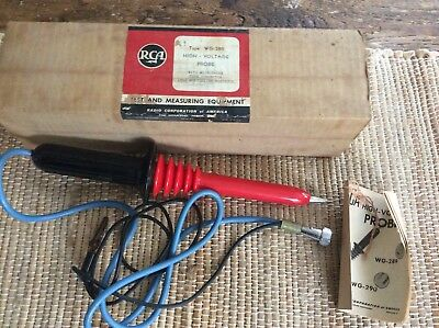 "Vintage ""RCA"" WG 289 - High Voltage Probe - In box - NOS"