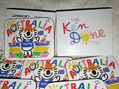 Retro Ken Done Designed DIGGER KOALA - Australia  1990s Set 6 Jason Unused