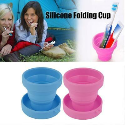 Portable Silicone Retractable Folding Mini Cup Telescopic Collapsible Travel US
