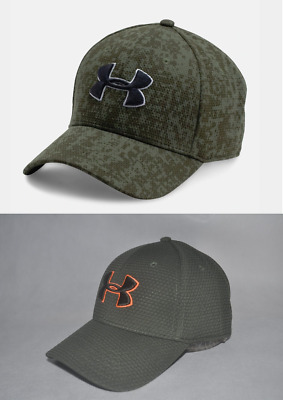 New Under Armour UA Printed Blitzing Stretch Fit Cap Men's #1273197 Hat