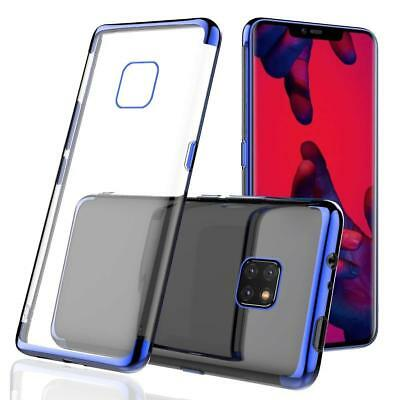 Plating Clear Soft TPU Case For Huawei Mate 20 Lite Pro Protective Hybrid Cover
