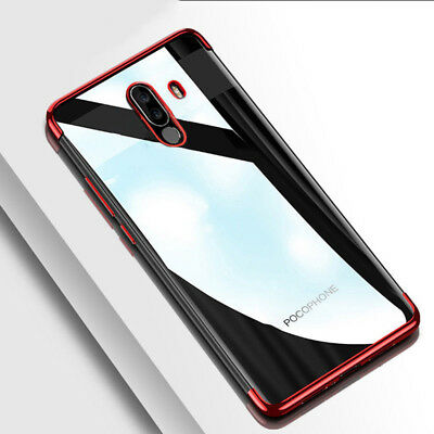 For Xiaomi Pocophone POCO F1 Shockproof Plating Clear Slim Soft TPU Case Cover