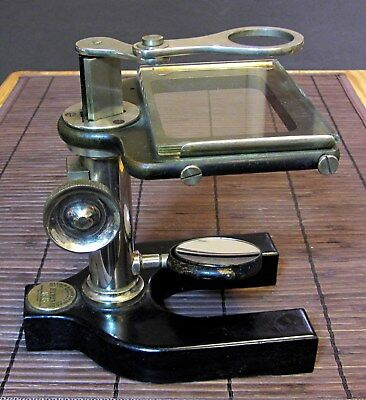 Brass & Cast Iron Bausch & Lomb Dissecting Microscope New York