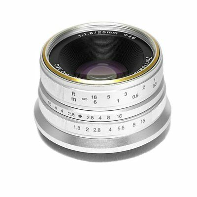 7 Artisans 25mm F1.8 APS-C Manual Prime Camera Lens EOS M Mount For Canon