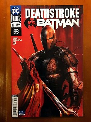 Deathstroke #30 Rebirth Francesco Mattina Variant Cover B Batman!