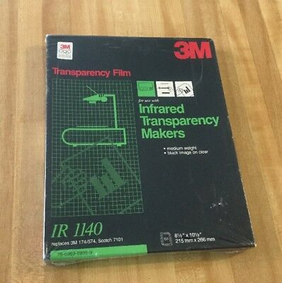 3M IR1120 Transparency Film for Infrared Transparency Makers 100 Sheets [NEW]