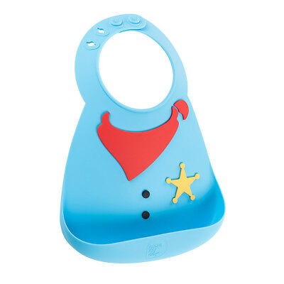 New Make My Day Baby Silicone Bib Sheriff BPA Free Easy clean