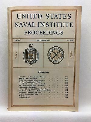United States Naval Institute Proceedings Nov 1940  MIDWAY, SUBMARINES, MINES