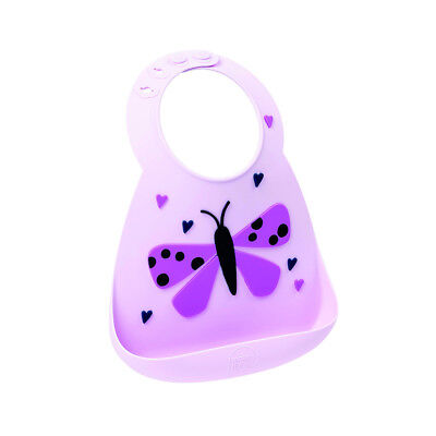New Make My Day Baby Silicone Bib Butterfly BPA Free Easy clean