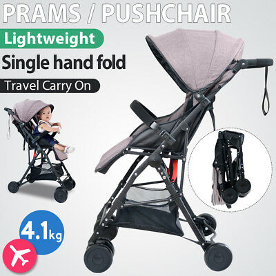 Compact Lightweight Baby Stroller Pram Pushchair Easy Fold Travel Carry on Plane