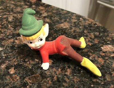 Vintage Christmas Bisque Pixie Elf Japan Made Exclusively For MB Daniels, NY