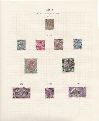 India: stamp collection on album pages