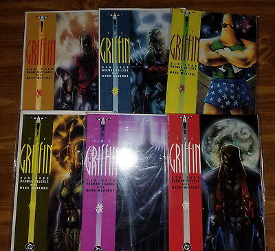 The Griffin Comic book Entire 1991 Set Books 1-6 Very Good Condition