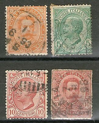 Italy:  3 Old Stamps + 1 filler - Used