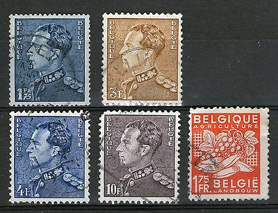 Belgium #1 : 5 Old Stamps - Used