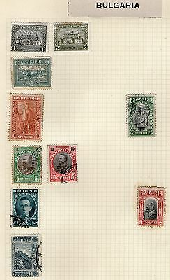 Bulgaria Stamp Collection on Old Album Page #7 -   MH & Used