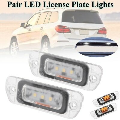 3-SMD LED License Plate Lights For Mercedes-Benz R-Class GL350 450 W164 X164