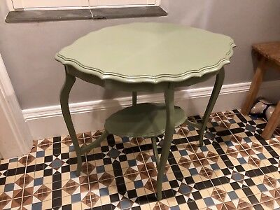 Green Pie Crust Occasional Table