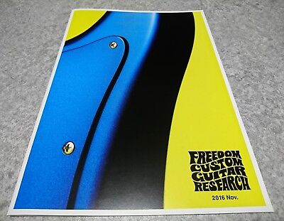 FREEDOM CUSTOM GUITAR RESEARCH 2016 Nov Catalog New F/S From Japan