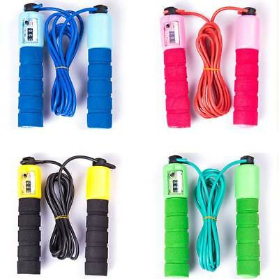 Skipping Rope With Jump Counter Exercise Boxing Gym Workout Fitness Adults Kid