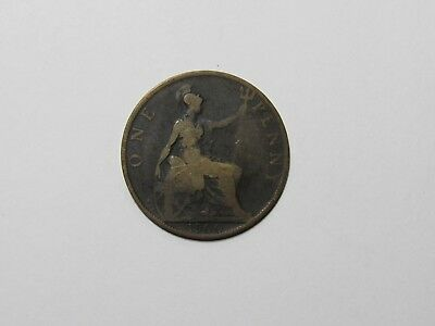 Old Great Britain Coin - 1900 Penny - Circulated