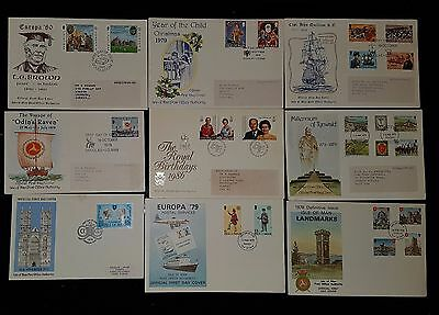 Isle of Man x9 First Day Covers (NoL026)