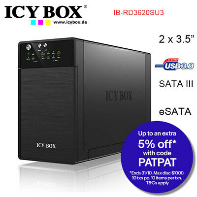 ICYBOX RAID system for 2x 3.5 inc SATA HDD USB 3.0 eSATA