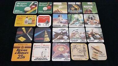 20 Benson & Hedges Cigarettes Smokes Cigars Beer Coasters Beermats