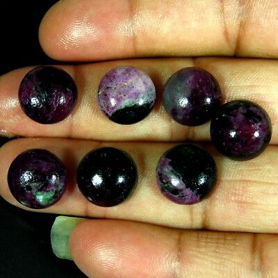 53.30cts.Ruby Zoisite round Shape Semiprecious Loose gemstone cabochons lot