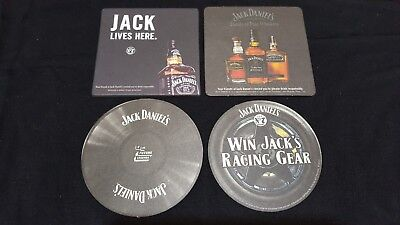 4 Jack Daniels Tennessee Whiskey Beer Coasters Beermats