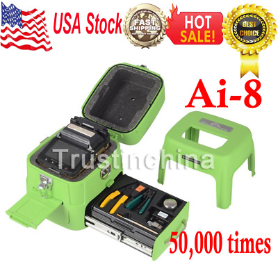 50000 Ai-8 Automatic Optical Fiber Fusion Splicer LCD for Night Operation 5''LCD