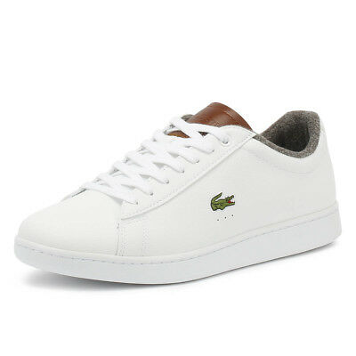 713651c901 Lacoste Mens Trainers Carnaby EVO 318 2 White & Brown Sport Casual Shoes