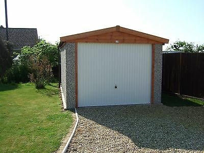 CONCRETE GARAGES  apex - 14'1 BY 8'3 Norwich/Ipswich/Carlisle fitted prices  *