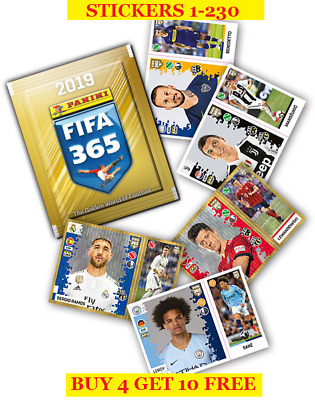 Panini FIFA 365 Season 2019 Single Stickers 1-230 (2018) Buy 4 Get 10 Free
