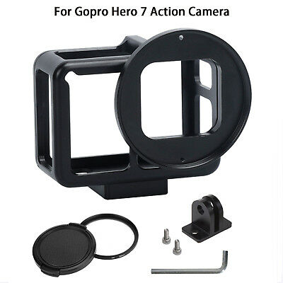 Aluminum Housing Shell Cage Mount Case Frame for Gopro Hero 7 Action Camera