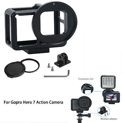 Housing Shell Cage Frame Cover for Gopro Hero 7 Action Camera W/52mm UV Lens