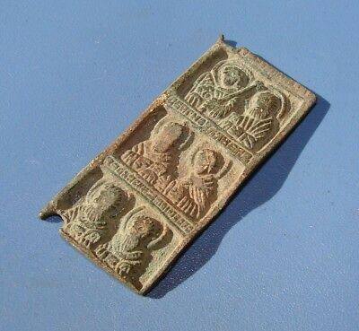 Fragment Of The Ancient Icon. Bronze. Original.