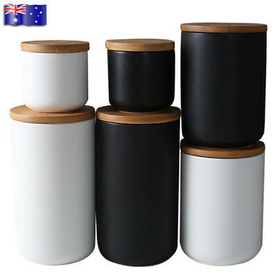 260/800/1000ML Ceramic Storage Jars Containers Canisters Tea Coffee Tank Pots AU